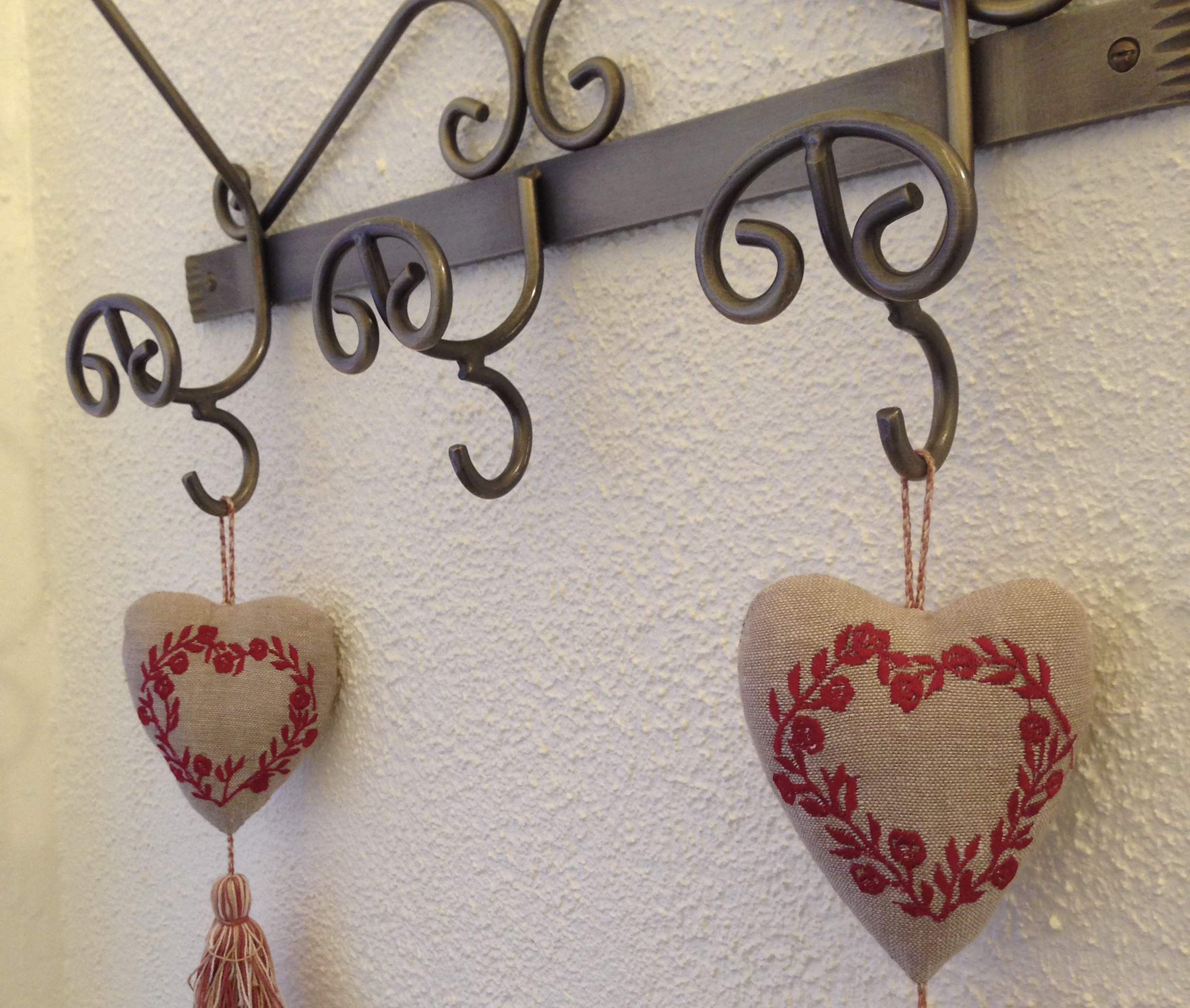 Hearts hanging