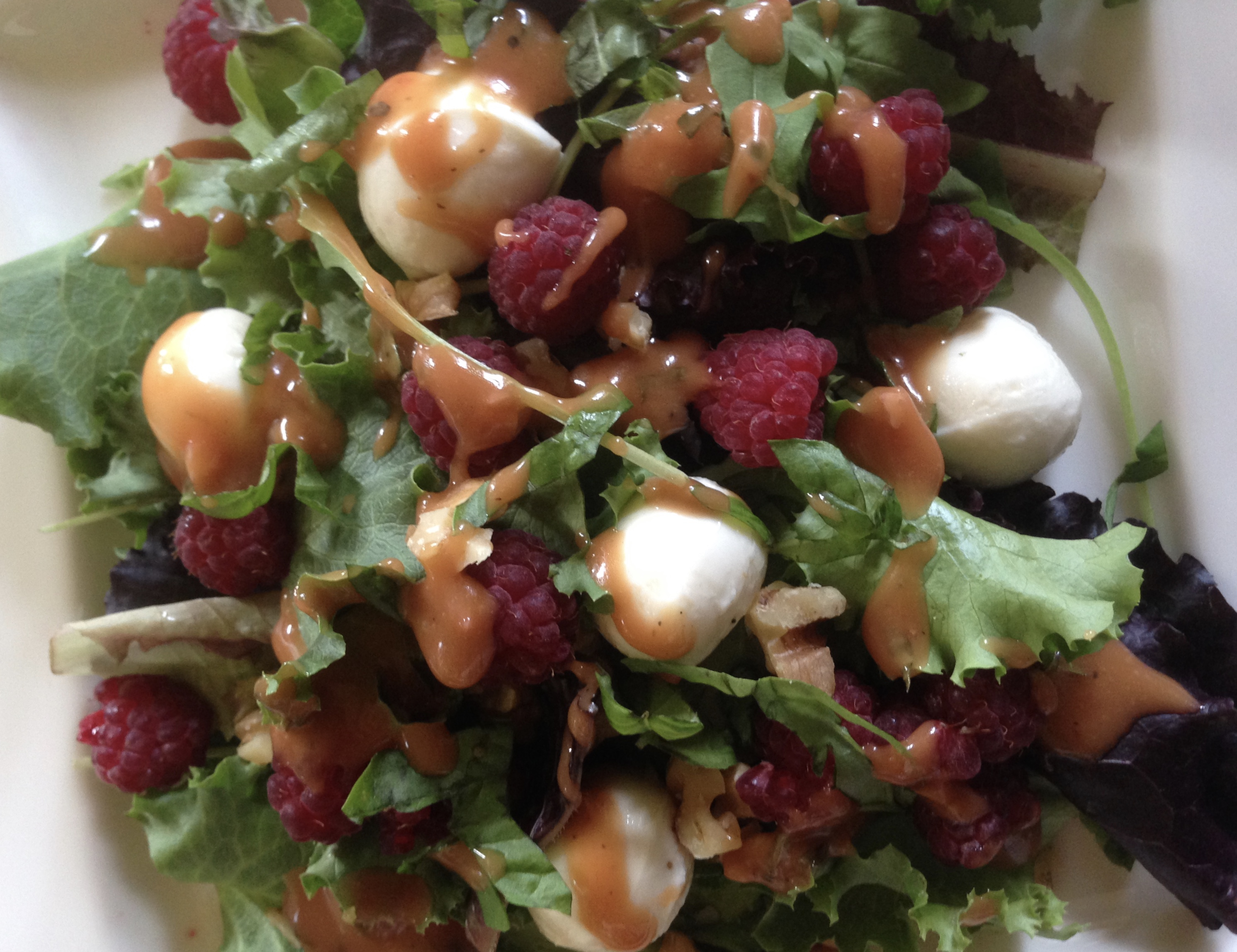 Raspberry walnut  salad